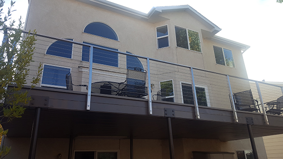 Aluminum Deck with Stainless and Cable Railing