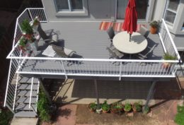 Trex Select Deck with Custom White Railing