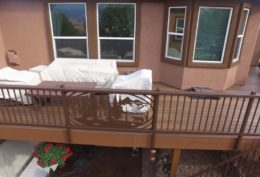 Tamko Envision Deck with Custom Bear Railing