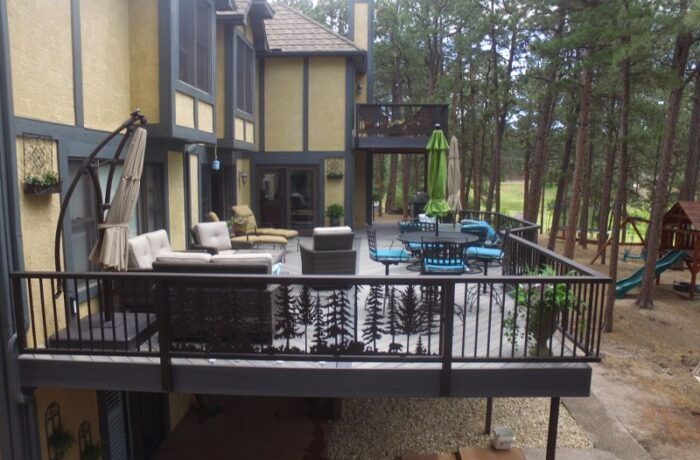 Fortress Deck with Oil Rubbed Bronze Railing