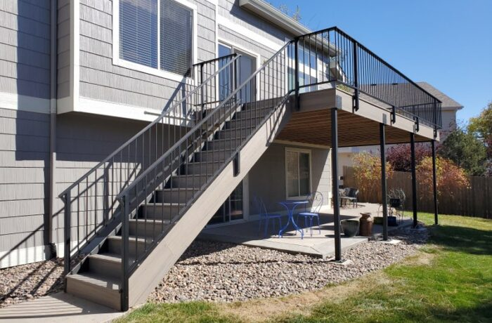 Rocky Harbor Decking with Standard Rail